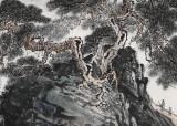 【已售】中国书画家协会理事李碧峰 小六尺《无限风光在险峰》