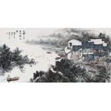 北京美协张春奇 四尺《水乡三月》(询价)