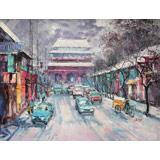 【已售】郭莹 《都市》北京著名女油画家