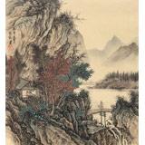 贵州七星关美协主席吴显刚 小尺寸《秋山读书图》