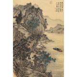 【已售】贵州七星关美协主席吴显刚 大三尺《别友图》