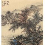 贵州七星关美协主席吴显刚 小尺寸《赏瀑图》