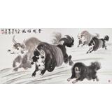 【已售】著名牦牛画家 王文煜 四尺《雪域雄风》