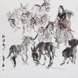 魏志平 四尺斗方《新疆见闻》 河北省美协会员