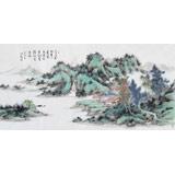 原中国书画家协会副主席王洪锡 四尺《怡山清江图》