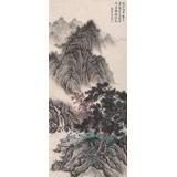 贵州七星关美协主席吴显刚 三尺《观泉图》