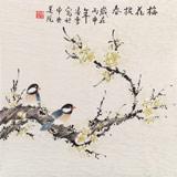 【已售】北京美协凌雪三尺斗方《梅花报春》