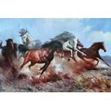朝鲜名家油画 金明国《骏马》