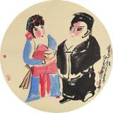 【已售】国家一级美术师王永刚 扇面《金玉奴》(询价)