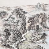 山东美协会员 曹宝峪四尺斗方《春山图》