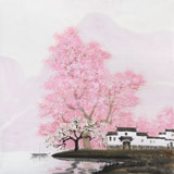 当代著名画家王寿 四尺斗方《江南之春》(询价)