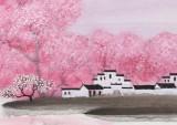 【已售】当代著名画家王寿 三尺《故乡之春》(询价)