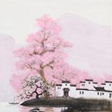 【已售】当代著名画家王寿 四尺斗方《烟雨江南》(询价)