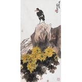 刘纪 三尺国画《秋兴图》 河南著名老画家