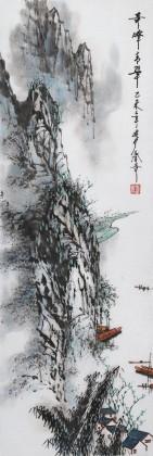 张春奇 三尺《奇峰青翠》徐悲鸿纪念馆艺术中心理事(询价)