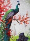 朝鲜名家油画 李雪《孔雀》