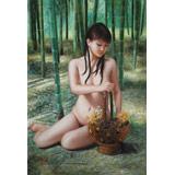 著名青年油画家朱艺林 布面油画 《林中少女》