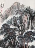 【已售】已故国画大家邹友蒸《万古青山》 1995年作