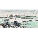 北京美协张春奇 四尺《春风又绿江南岸》