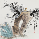 王宝钦 四尺斗方画《清香》当代花鸟牡丹画名家(询价)