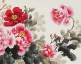 【已售】王宝钦 四尺 《富贵吉祥》 当代花鸟牡丹画名家(询价)