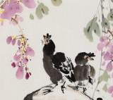 王宝钦 三尺《紫气东来》当代花鸟牡丹画名家(询价)