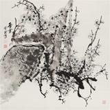 王宝钦 四尺斗方作品《香雪》当代花鸟牡丹画名家(询价)