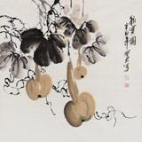 王宝钦 四尺斗方作品《秋实图》当代花鸟牡丹画名家(询价)