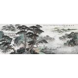 中国书画家协会理事李碧峰 小六尺《松涧观泉图》