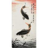 【已售】周升达 四尺《有鱼天下行》 中国画院国画组长(询价)