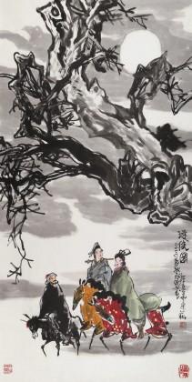 国家一级美术师王永刚 四尺《游侠图》(询价)