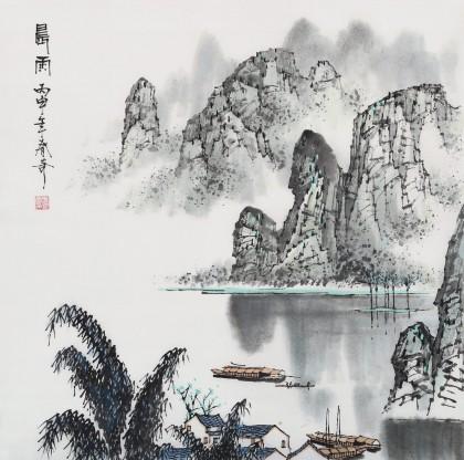 北京美协张春奇 四尺斗方《晨雨》(询价)