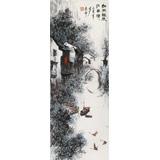 北京美协张春奇 三尺《细雨轻梳江南情》