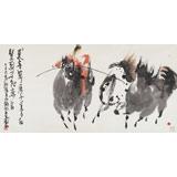 国家一级美术师王永刚 四尺《红鬃烈马》(询价)