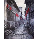 【已售】郭莹 《小巷》北京著名女油画家