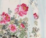 曲逸之 六尺《富贵无期》 河南省著名花鸟画家
