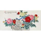 北京美协凌雪四尺《花开富贵》