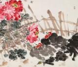 曲逸之 六尺《富贵大吉》 河南省著名花鸟画家