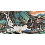 【已售】三峡大学艺术学院教授向士平 四尺《濠梁秋水之间》