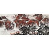 【已售】中国书画家协会理事李碧峰 小八尺《万山红遍》