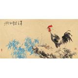 著名画家王向阳四尺作品《吉祥三友》(询价)