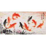 【已售】中国画院周升达 三尺《富贵久鱼》(询价)