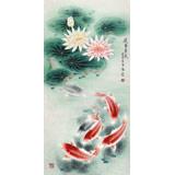 【已售】南海禅寺 妙林居士 三尺《连年有鱼》