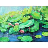 【已售】郭莹 《碧塘清影》北京著名女油画家