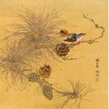 【已售】魏钦 小尺寸《喜上枝头》 中国艺术研究院