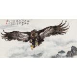 【已售】向士平 四尺《高翔五岳》三峡大学艺术学院教授