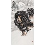 【已售】王贵邱 四尺《大风歌》 当代著名藏獒画家