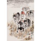 杨西沐 四尺三开《高原牧歌》 中国美术家协会会员