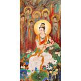 【已售】南海禅寺 妙林居士 四尺《观世音》
