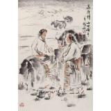 杨西沐 四尺三开《高原情》 东方书画院名誉院长